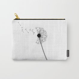 Dandelion Black and White Carry-All Pouch