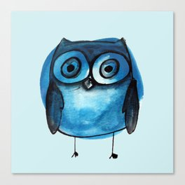 Blue Owl Boy Canvas Print