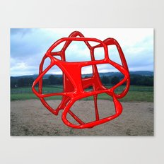Red Sphere - Sculpture Implants Series Canvas Print