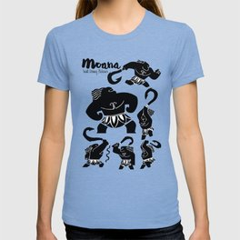 Moana, Animated Movie Poster, Oceania, Vaiana, minimal, alternative, film, playbill, 3D cartoon T-shirt