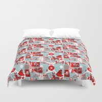 watch Duvet Covers featuring Neighborhood Watch by Denny Schmickle