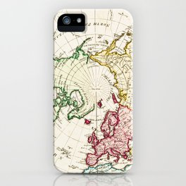 Northern Hemisphere- reproduction of William Faden's 1790 engraving iPhone Case