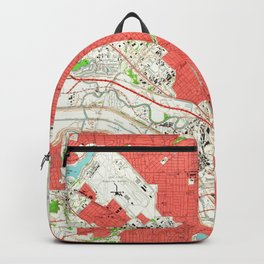 Vintage Map of Dallas Texas (1958) 2 Backpack