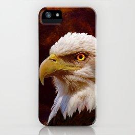 Bald Eagle Bird Wildlife Wall Art Lodge Art, Cabin Art A058 iPhone Case