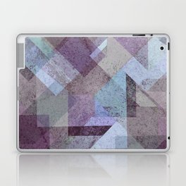 PLUM TURQUOISE ABSTRACT GEOMETRIC Laptop & iPad Skin