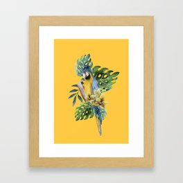 Macaw Parrot Framed Art Print
