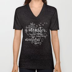 Six of Crows - Monster - Black Unisex V-Neck