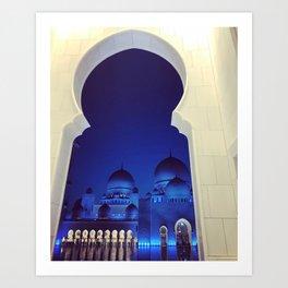 Grand Mosque - Abu Dhabi Art Print
