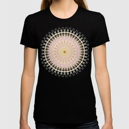Blush Gold Black Mandala T-shirt