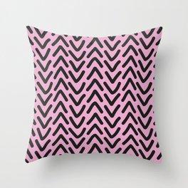 chevron pink rose Throw Pillow