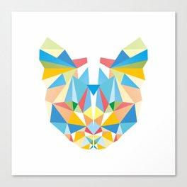 Diamond Kaleidoscopic Cat Canvas Print