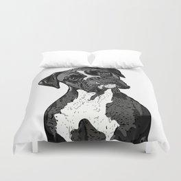 Black and White Boxer Duvet Cover