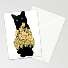 Tall Black Cat Stationery Cards