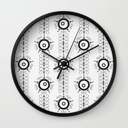 Black and white pattern Art Deco 25 . Wall Clock