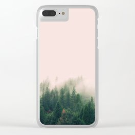 Pink Fog Clear iPhone Case