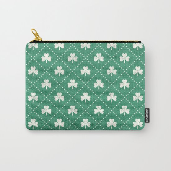 SHAMROCK ON! - emerald Carry-All Pouch
