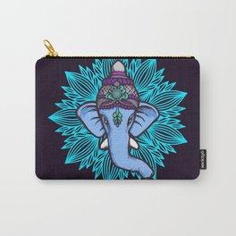 Wise Elephant Ganesha Mandala Carry-All Pouch