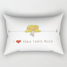 I love yoga girl Rectangular Pillow