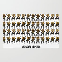 WE COME IN PEACE - Fuck You Human Race! (Poster 2) Rug