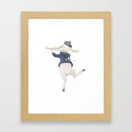 rabbit musician Framed Art Print