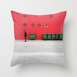 Red Hong Kong Throw Pillow
