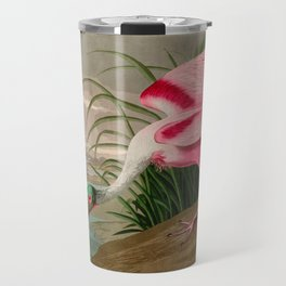 Roseate Spoonbill Birds of America Audubon Illustration Bird Lovers Gift Travel Mug