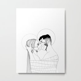 Love in the Time of C-19 Metal Print