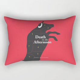 Ernest Hemingway book cover & Poster, Death in the Afternoon, bullfighting stories Rectangular Pillow