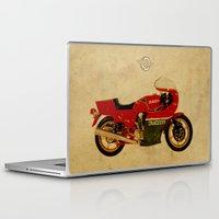 ducati Laptop & iPad Skins featuring Ducati 900 MHR 1980 by Larsson Stevensem