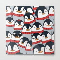 Merry Christmas Penguins! Metal Print