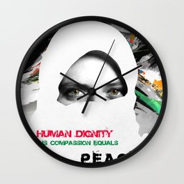 Freedom For Syria Wall Clock
