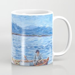 Fishermen in Nafplio, Greece Coffee Mug