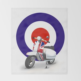 Mod Moped poster Throw Blanket