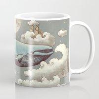 ocean Mugs featuring Ocean Meets Sky (original) by Terry Fan