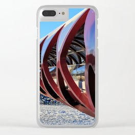 Calgary Peace Bridge in Winter Clear iPhone Case