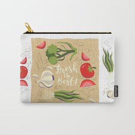 Fresh Is Best In The Kitchen Carry-All Pouch