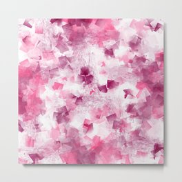pink cubism Metal Print