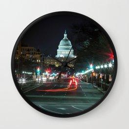 DC At Night Wall Clock