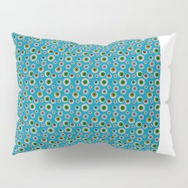 I Only Have Eyes for You (on Cyan Blue Background)  Pillow Sham