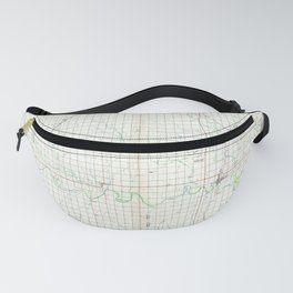 OK Ponca City 802687 1985 topographic map Fanny Pack