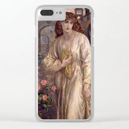 Dante Gabriel Rossetti - Salutation of Beatrice, 1880 Clear iPhone Case