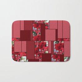 Mixed color Poinsettias 1 Art Rectangles 8 Bath Mat