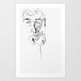 kafka reader Art Print