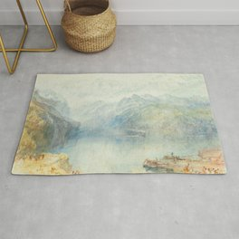 """J.M.W. Turner """"The Lake of Lucerne from Brunnen, with a Steamer"""" Rug"""