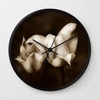 mandie manzano Wall Clocks featuring elegancia  by Christine baessler