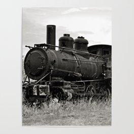 Vintage Steam Engine Poster
