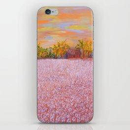 Cotton at Sunset iPhone Skin
