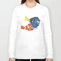 nemo Long Sleeve T-shirts featuring Finding Nemo by Larissa
