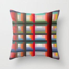 Lovely Trendy Retro Grid Moroi Throw Pillow