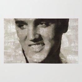 Elvis Presley Portrait Rug